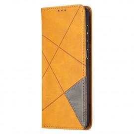Geometric Book Case Samsung Galaxy S21 Plus Hoesje - Bruin