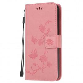 Bloemen Book Case Samsung Galaxy A12 Hoesje - Pink