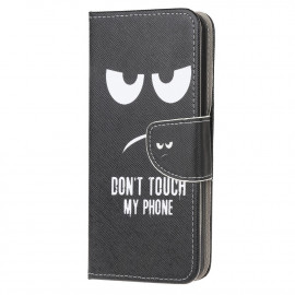 Book Case Samsung Galaxy A12 Hoesje - Don't Touch
