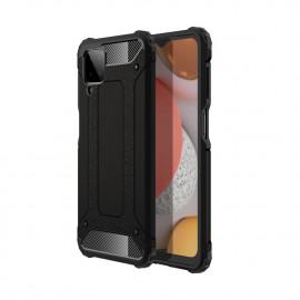 Armor Hybrid Samsung Galaxy A12 Hoesje - Zwart