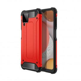 Armor Hybrid Samsung Galaxy A12 Hoesje - Rood