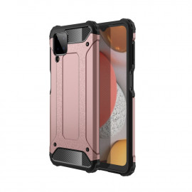 Armor Hybrid Samsung Galaxy A12 Hoesje - Rose Gold