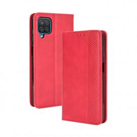 Vintage Book Case Samsung Galaxy A12 Hoesje - Rood