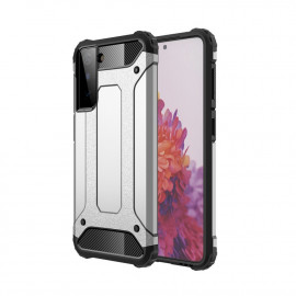 Armor Hybrid Samsung Galaxy S21 Plus Hoesje - Grijs