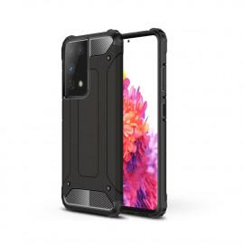 Armor Hybrid Samsung Galaxy S21 Ultra Hoesje - Zwart