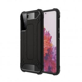Armor Hybrid Samsung Galaxy S21 Hoesje - Zwart