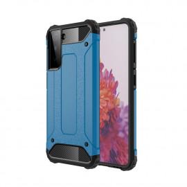 Armor Hybrid Samsung Galaxy S21 Hoesje - Lichtblauw