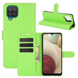 Book Case Samsung Galaxy A12 Hoesje - Groen
