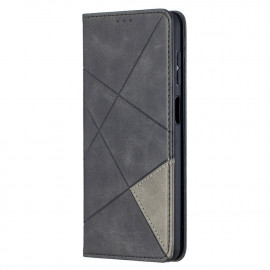 Geometric Book Case Samsung Galaxy A12 Hoesje - Zwart