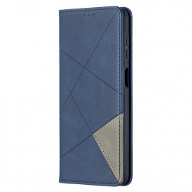 Geometric Book Case Samsung Galaxy A12 Hoesje - Blauw