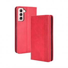 Vintage Book Case Samsung Galaxy S21 Hoesje - Rood