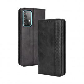 Vintage Book Case Samsung Galaxy A72 Hoesje - Zwart