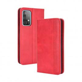 Vintage Book Case Samsung Galaxy A72 Hoesje - Rood