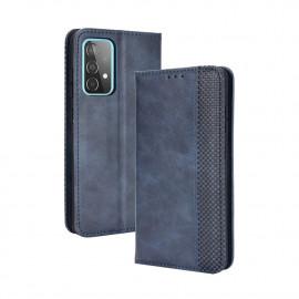 Vintage Book Case Samsung Galaxy A72 Hoesje - Blauw