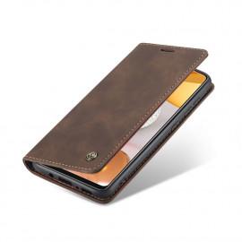 CaseMe Book Case Samsung Galaxy S21 Ultra Hoesje - Donkerbruin