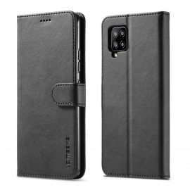 Luxe Book Case Samsung Galaxy A42 Hoesje - Zwart