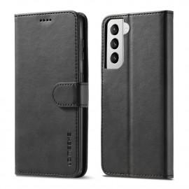 Luxe Book Case Samsung Galaxy S21 Hoesje - Zwart