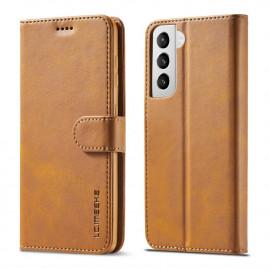 Luxe Book Case Samsung Galaxy S21 Hoesje - Bruin