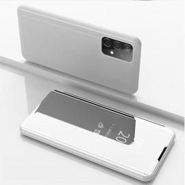 Mirror View Case Samsung Galaxy A52 Hoesje - Zilver