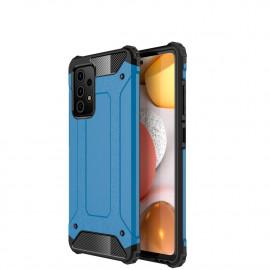 Armor Hybrid Samsung Galaxy A72 Hoesje - Lichtblauw