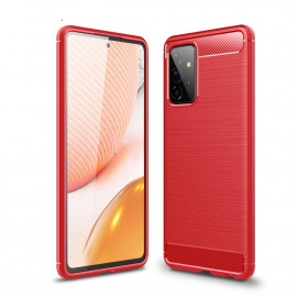 Armor Brushed TPU Samsung Galaxy A72 Hoesje - Rood