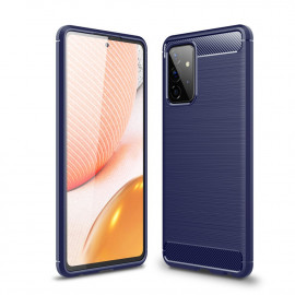 Armor Brushed TPU Samsung Galaxy A72 Hoesje - Blauw