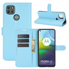 Book Case Motorola Moto G9 Power Hoesje - Lichtblauw