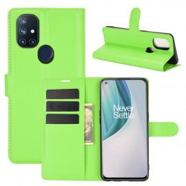 Book Case OnePlus Nord N10 Hoesje - Groen