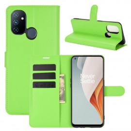 Book Case OnePlus Nord N100 Hoesje - Groen