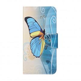 Book Case Nokia 5.4 Hoesje - Blauwe Vlinder