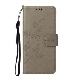 Bloemen Book Case Nokia 5.4 Hoesje - Grijs