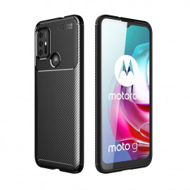 Carbon Fiber TPU Case Motorola Moto G30 Hoesje - Zwart