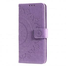 Bloemen Book Case Xiaomi Redmi 9 Hoesje - Paars