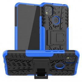Rugged Kickstand Xiaomi Redmi 9C Hoesje - Blauw