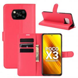 Book Case Xiaomi Poco X3 Hoesje - Rood