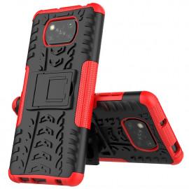 Rugged Kickstand Xiaomi Poco X3 Hoesje - Rood