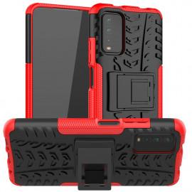 Rugged Kickstand Xiaomi Redmi 9T Hoesje - Rood