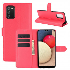 Book Case Samsung Galaxy A02s Hoesje - Rood