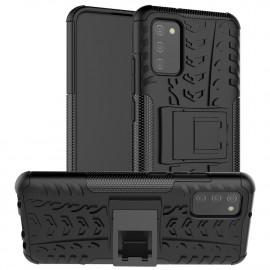 Rugged Kickstand Samsung Galaxy A02s Hoesje - Zwart