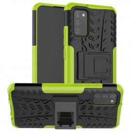 Rugged Kickstand Samsung Galaxy A02s Hoesje - Groen