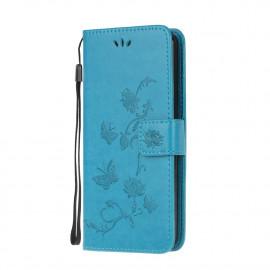 Bloemen Book Case Xiaomi Mi 10T Pro 5G Hoesje - Blauw