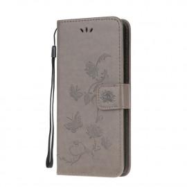 Bloemen Book Case Xiaomi Mi 10T Pro 5G Hoesje - Grijs