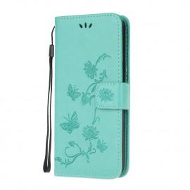Bloemen Book Case Xiaomi Mi 10T Pro 5G Hoesje - Cyan