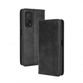Vintage Book Case Xiaomi Mi 10T Pro 5G Hoesje - Zwart