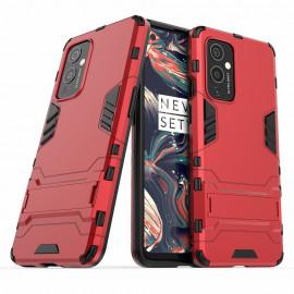 Armor Kickstand OnePlus 9 Hoesje - Rood