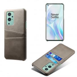 Dual Card Back Cover OnePlus 9 Pro Hoesje - Grijs