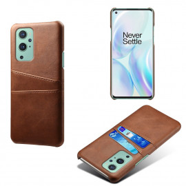 Dual Card Back Cover OnePlus 9 Pro Hoesje - Bruin