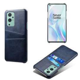 Dual Card Back Cover OnePlus 9 Pro Hoesje - Blauw