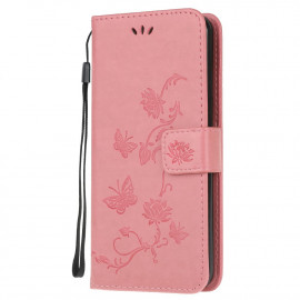 Bloemen Book Case Samsung Galaxy Xcover 5 Hoesje - Pink