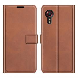 Book Case Samsung Galaxy Xcover 5 Hoesje - Bruin